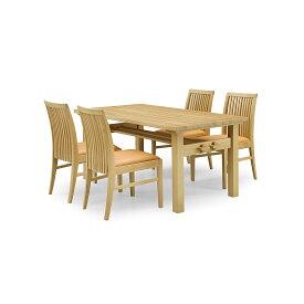 36%OFF [ダイニング5点セット] GREEN home style ROSE MARY DINING TABLE 150 + SIDE CHAIR C (グリーン ホームスタイル ローズマリー ダイニングテーブル150 サイドチェアC) 岩倉榮利 (オーク材)【同梱不可】【店頭受取対応商品】