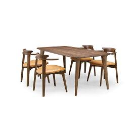 35%OFF [ダイニング5点] GREEN home style YUZU DINING TABLE B180 + CHAIR D (グリーン ホームスタイル ユズ ダイニングテーブル B180 チェア D) ダイニングセット 岩倉 榮利 (テーブル幅180cm, ウォールナット材)【同梱不可】