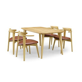 34%OFF [ダイニング5点] GREEN home style YUZU DINING TABLE B140 + CHAIR D (グリーン ホームスタイル ユズ ダイニングテーブル B140 チェア D) ダイニングセット 岩倉 榮利 (テーブル幅140cm, オーク材)【同梱不可】