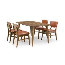 36%OFF [ダイニング5点] GREEN home style YUZU DINING TABLE B140 + CHAIR E (グリーン ホームスタイル ユズ ダイニングテーブル B140 チェア E) ダイニングセット 岩倉 榮利 (テーブル幅140cm, ウォールナット材)【同梱不可】