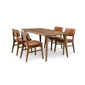 36%OFF [ダイニング5点] GREEN home style YUZU DINING TABLE B160 + CHAIR E (グリーン ホームスタイル ユズ ダイニングテーブル B160 チェア E) ダイニングセット 岩倉 榮利 (テーブル幅160cm, ウォールナット材)【同梱不可】