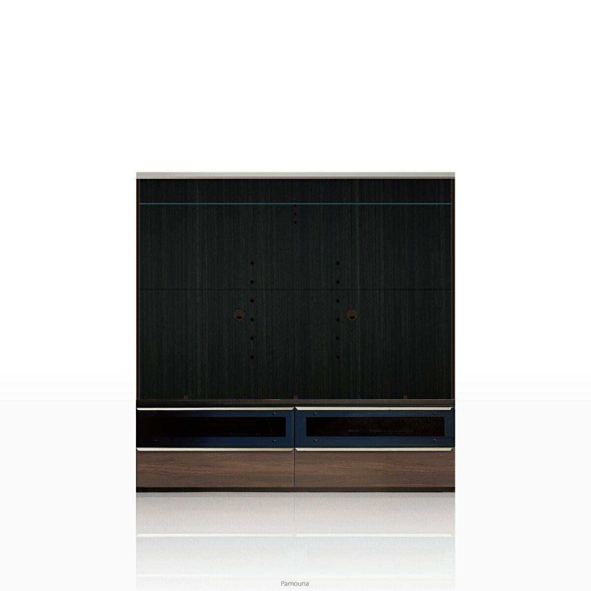 パモウナ テレビ台 VWシリーズ VW-1600 テレビ台/テレビボード (幅160cm, ウォールナット)【この商品は配送地域限定[本州、四国、九州]】【同梱不可】【店頭受取対応商品】