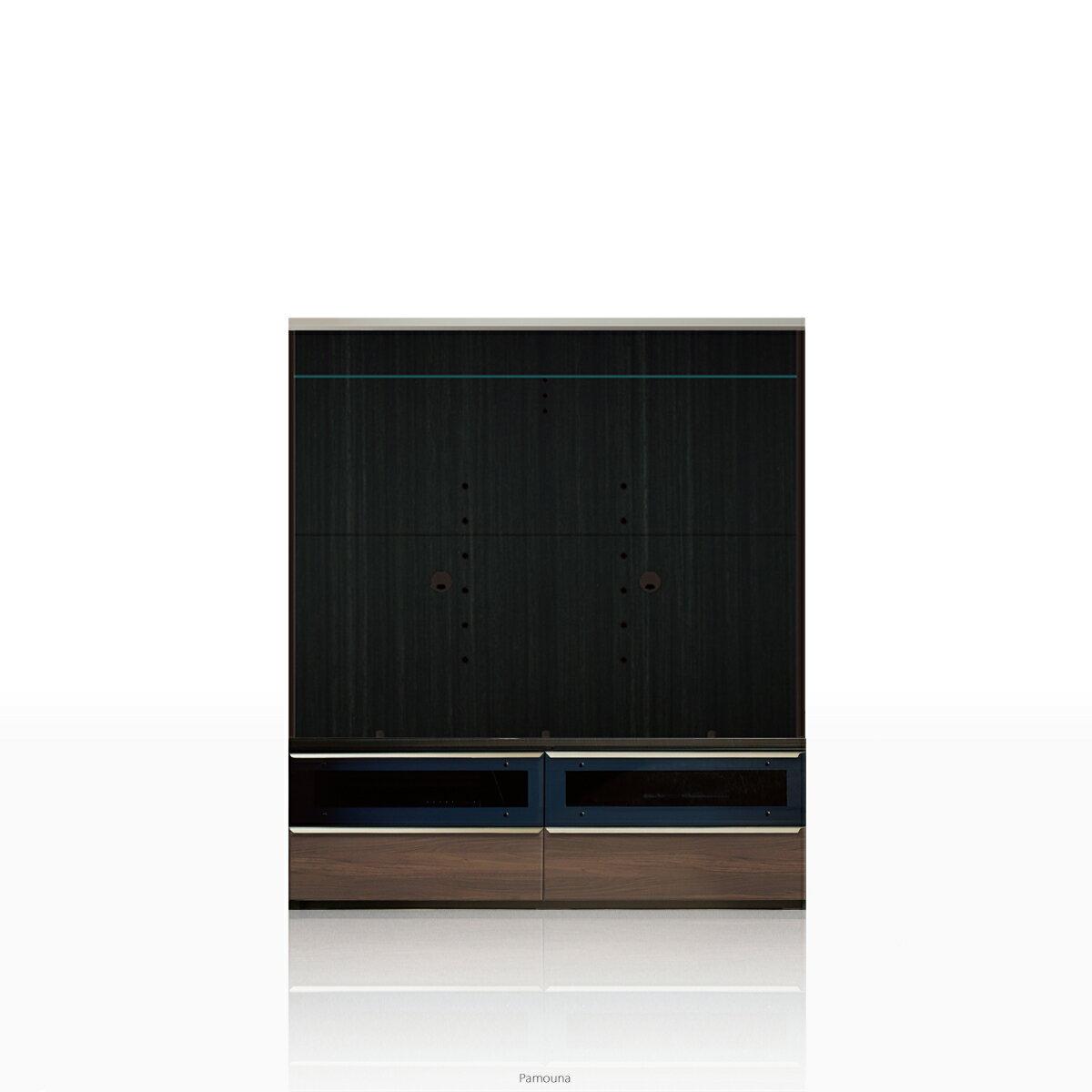 パモウナ テレビ台 VWシリーズ VW-1400 テレビ台/テレビボード (幅140cm, ウォールナット)【この商品は配送地域限定[本州、四国、九州]】【同梱不可】【店頭受取対応商品】