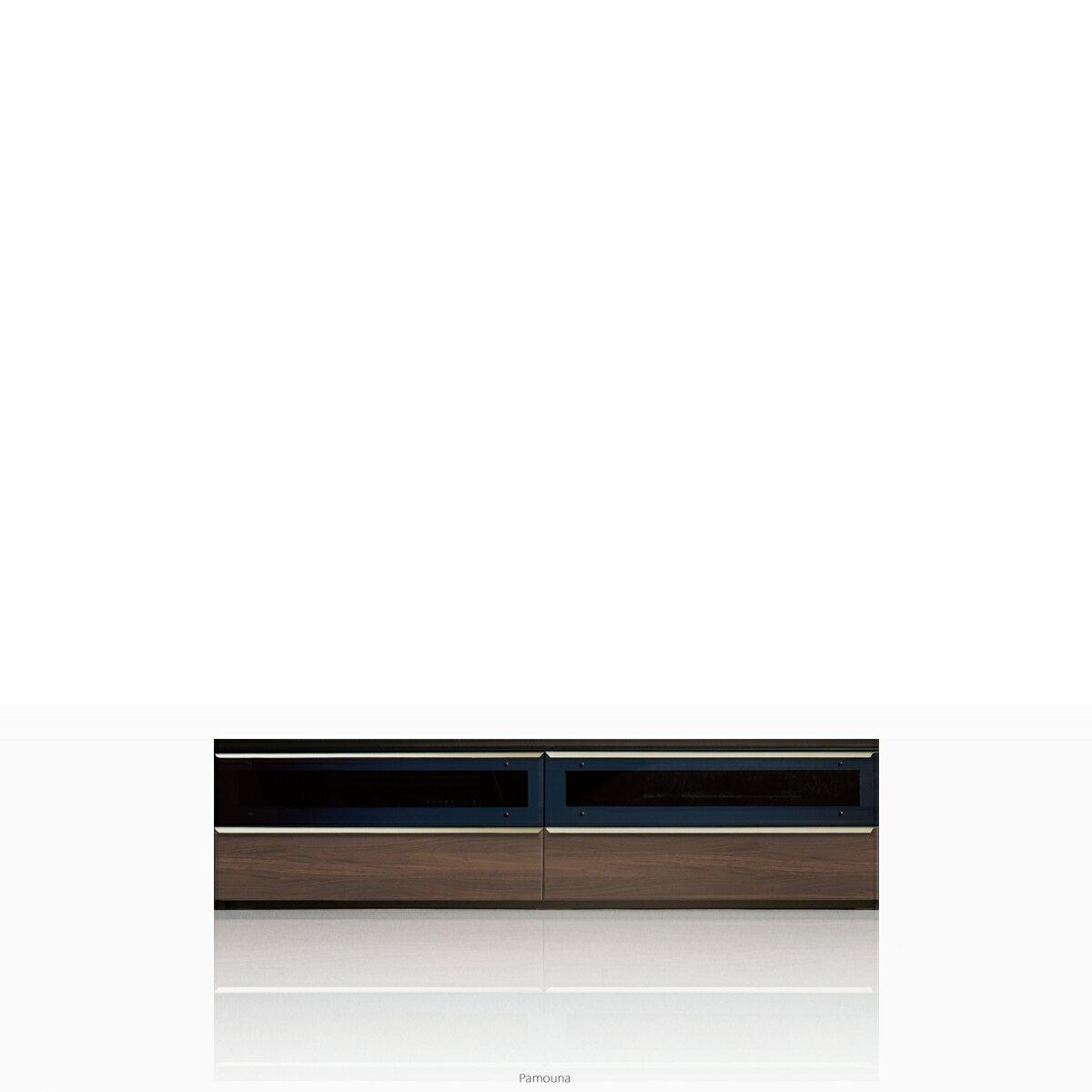 パモウナ テレビ台 VWシリーズ VW-1800 テレビ台/テレビボード ローボード (幅180cm, ウォールナット)【この商品は配送地域限定[本州、四国、九州]】【同梱不可】【店頭受取対応商品】