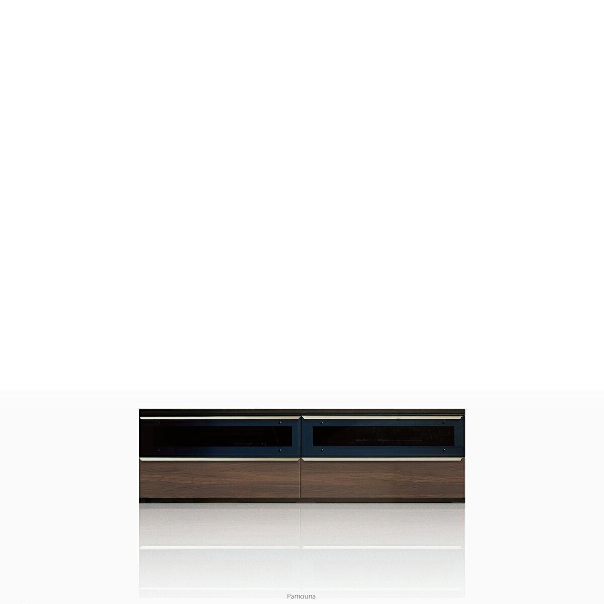 パモウナ テレビ台 VWシリーズ VW-1600 テレビ台/テレビボード ローボード (幅160cm, ウォールナット)【この商品は配送地域限定[本州、四国、九州]】【同梱不可】【店頭受取対応商品】