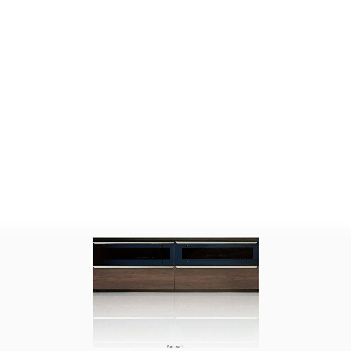 パモウナ テレビ台 VWシリーズ VW-1400 テレビ台/テレビボード ローボード (幅140cm, ウォールナット)【この商品は配送地域限定[本州、四国、九州]】【同梱不可】【店頭受取対応商品】