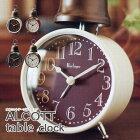 オルコット『ALCOTT』置き時計アラーム機能木製アイボリー・レッド・グリーン・ブラウン