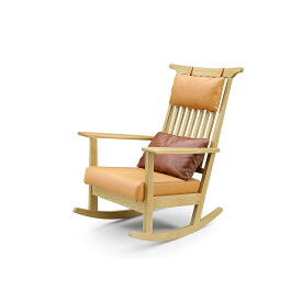 31%OFF GREEN home style ROSE MARY ROCKING CHAIR (グリーン ホームスタイル ローズマリー ロッキングチェア) 革張りロッキングチェア Designed by 岩倉 榮利 イワクラ エイリ (オーク材)【同梱不可】【店頭受取対応商品】