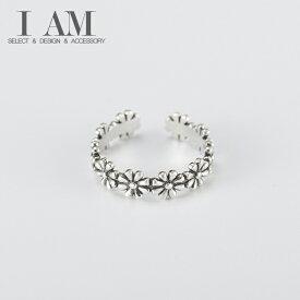 フラワー リング 花 指輪 シルバー925 フリーサイズ レディース 女性 おしゃれ かわいい ファッション デザイン ジュエリー アクセサリー
