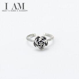 ローズ バラ フラワー リング 花 指輪 シルバー925 フリーサイズ レディース 女性 おしゃれ かわいい ファッション デザイン ジュエリー アクセサリー