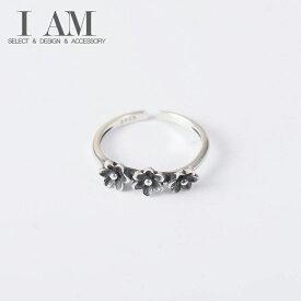 ボタニカル フラワー リング 花 指輪 シルバー925 フリーサイズ レディース 女性 おしゃれ かわいい ファッション デザイン ジュエリー アクセサリー