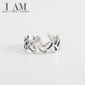 リーフ デザイン リング 葉 指輪 シルバー925 フリーサイズ レディース 女性 おしゃれ かわいい ファッション ジュエリー アクセサリー
