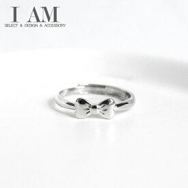 リボン リング 指輪 シルバー925 フリーサイズ レディース 女性 おしゃれ かわいい ファッション デザイン ジュエリー アクセサリー