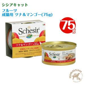 シシアキャット Schesir フルーツタイプ/ツナ&マンゴー(75g) 【配送区分:P】