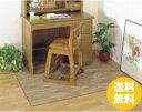 木目調 デスクフロアーマット 大判 約120×140cm ◆デスクマット フローリング調