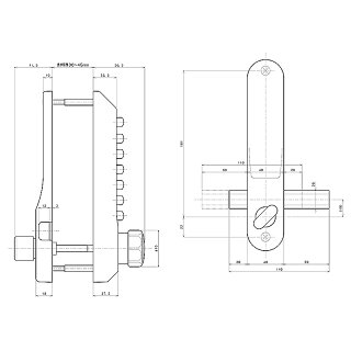 キーレックス500 面付本締錠(22204) メタリックアンバー