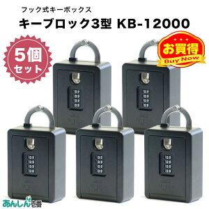 物件 賃貸 玄関 鍵 管理 会社 キー ボックス 収納 キーブロック 4型 KB-12000 (5個セット)