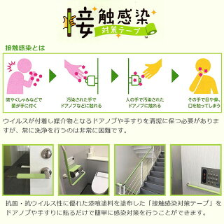 関西ペイント 接触感染対策テープ 幅10cm×長さ5m フレッシュグリーン