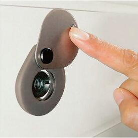ドアスコープ カバー 両面テープ取付 防犯グッズ 覗見防止 玄関ドア のぞき見防止金具 N-1257