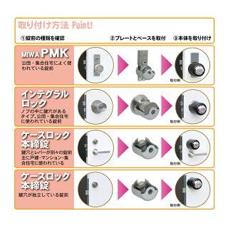 鍵穴カバー式補助錠 キーアウトSM-12
