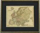 古地図原本1828年ヨーロッパ(額装つき)-EUROPE-