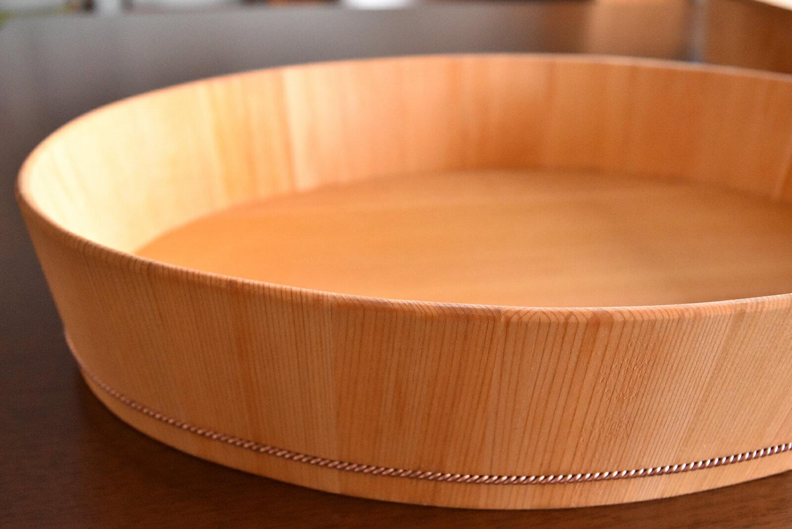 楕円の飯台(大)本体と蓋のセット【代金引換不可】