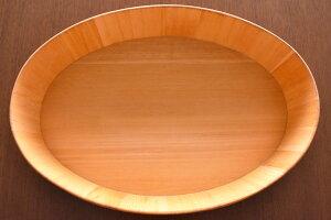 楕円の飯台(大)/国産木曽さわらでつくった日本製の飯台/手巻き寿司やちらし寿司はもちろん、サンドイッチや鍋の具材入れにも使える、おしゃれな木のうつわです【代金引換不可】※蓋は別売りです
