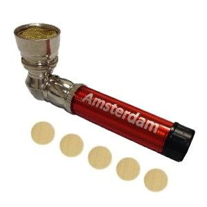 メタルパイプ アムステルダム- Metal Pipe Amsterdam(80mm)スクリーン・ネット5枚付き 喫煙具 タバコパイプ