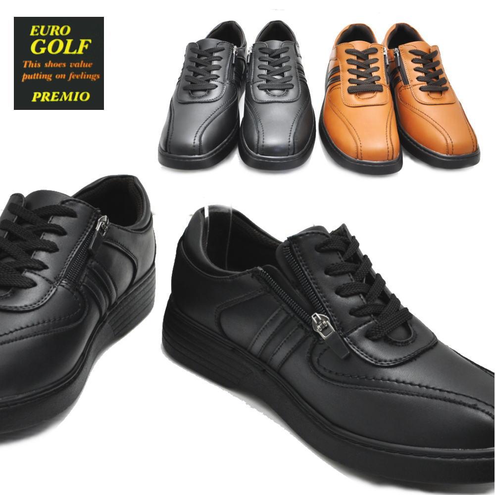 EURO GOLF ウォーキングシューズ/紐靴/ファスナー付/軽量/No98681