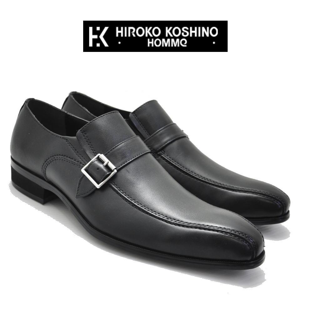本革 《HIROKO KOSHINO HOMME》 ヒロココシノ ベルト スリッポン No121