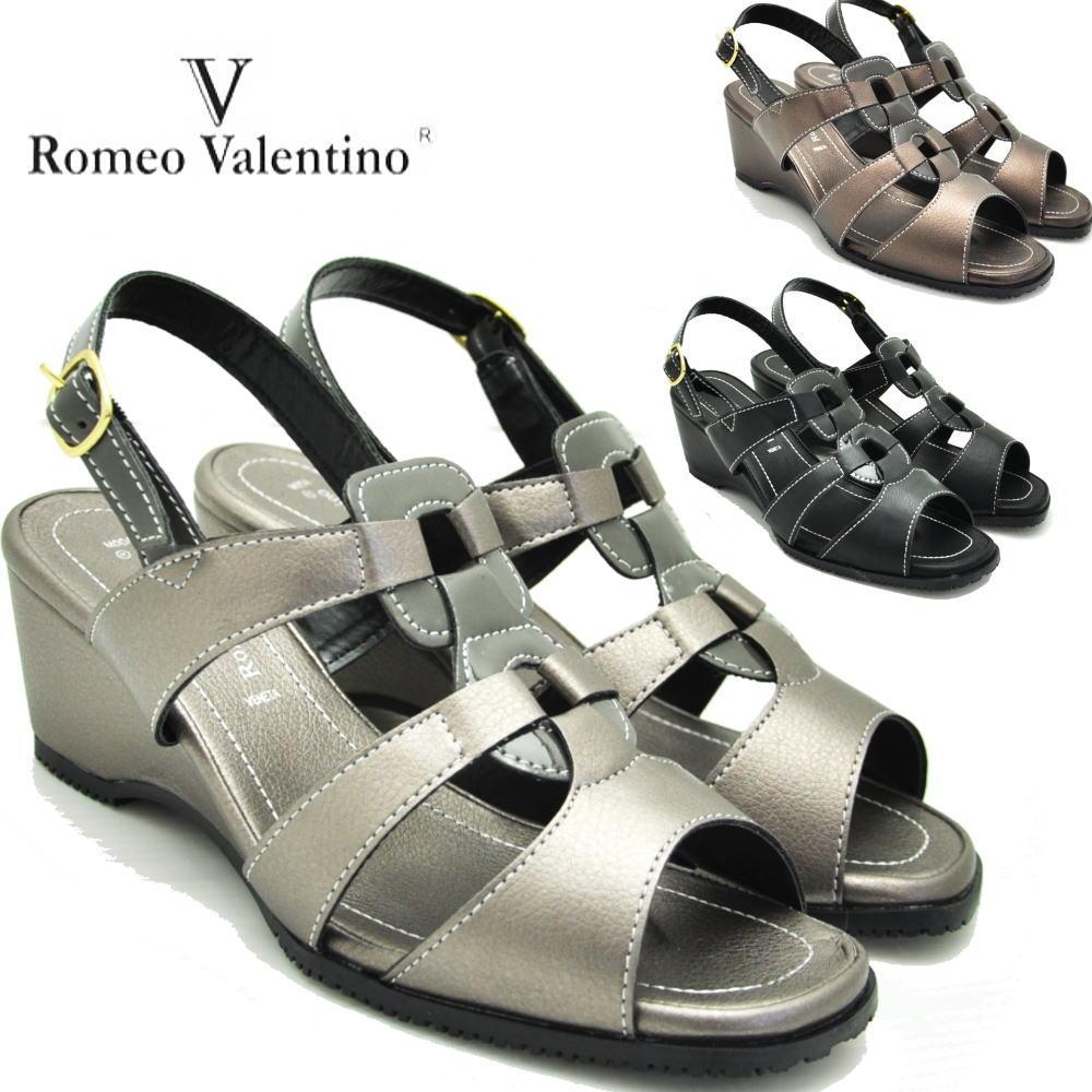 ウエッジサンダル/バックストラップ/romeo valentino(ロメオバレンチノ)153202