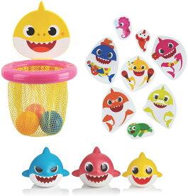 ベイビーシャーク お風呂のおもちゃ・ステッカー・バスケットボールネット WowWee Pinkfong Baby Shark Official - Bath Toy Bundle【並行輸入品】【ラッピング不可】 プレゼント クリスマス