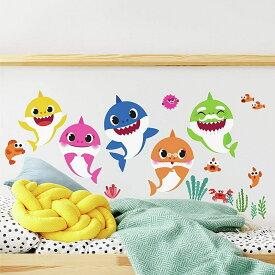 Baby Shark Peel And Stick Wall Decals | Kids Room Decor ベイビーシャーク ウォールデコレーション シール【並行輸入品】【ラッピング不可】