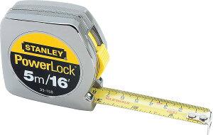 """Stanley33-158Powerlock Metric & Inch Tape Rule-3/4""""X16 PWRLCK TAPE RULE【並行輸入品】【送料無料!】スタンレー 巻尺メジャー 5m【ラッピング不可】"""