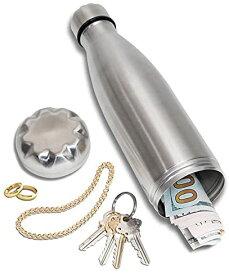 Stash-it ステンレス水筒に偽装した隠し金庫 (実際に水を入れられ、小物や現金など貴重品を隠すことが出来るタンブラー)【並行輸入品】【ラッピング不可】