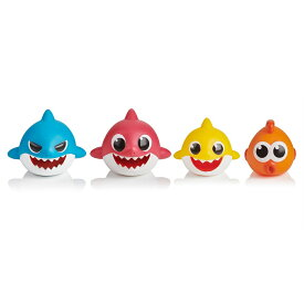 Pinkfong Baby Shark Bath Squirt Toy - 4 Pack ベイビーシャーク お風呂 プール 水遊び おもちゃ 4パック【並行輸入品】