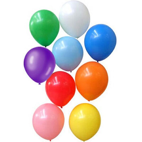 無地(糸バルブ付 10インチ丸型)ゴム風船 混合色または色別 50個セット