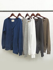 August Roots(オーガストルーツ) Classic Cardigan/ AR-161007/ Col.WHITE/H-GRAY/NAVY/ARMY/OLD BLACK/ Made.In.Japan