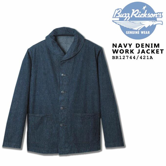 BUZZ RICKSON'S(バズリクソンズ) NAVY DENIM WORK JACKET BR12744_421)A/NAVY