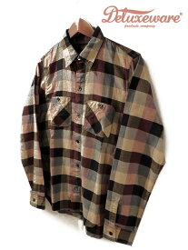 DELUXE WARE(デラックスウェア)THROUGH SERGE SHIRTS/ LV-09 / Made.In.Japan