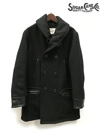 30oz. WOOL MELTON RAILOROAD MEN'S COAT / Lot.SC14274-119)BLACK SUGAR_CANE(シュガーケーン)