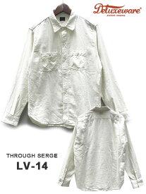 DELUXE WARE(デラックスウェア)THROUGH SERGE / LV-14 / WHITE/ Made.In.Japan