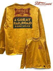 DELUXE WARE(デラックスウェア) FRISCO 長袖Tシャツ DLL-06 3-COLORS:US.YEL / Made.In.Japan [2021SS NEW]