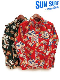 大特価 【50%OFFセール】SUN SURF(サンサーフ)TRADITIONAL HAWAIIAN MOTIFS CORDUROY L/S B.D. SHIRT/SS27708 Made in Japan