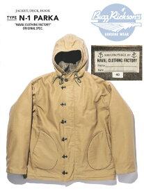 "BuzzRickson's(バズリクソンズ)N-1 PARKA BR14143 アルパカウール デッキジャケット パーカー ""NAVAL CLOTHING FACTORY ""Made in Japan シベリア 極限の防寒着送料無料"