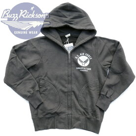 US AIR FORCE FULL ZIP PARKA スウェットパーカー BR65599_119)BLK BUZZ RICKSON'S(バズリクソンズ) Made in JAPAN