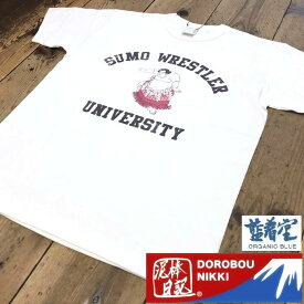 完売御礼♪ 泥棒日記 スーベニアTシャツ 相撲Tシャツ SUMO WRETLER 粋で愉快な 和柄Tシャツ カレッジTシャツ M L XL XXL (3L) サイズ 胸囲 118cm 対応 D14630