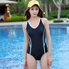 Mrs. adult black black to knit swimsuit Lady's monokini bikini all-in-one dress back profile back cross plain fabric, and to show a simple back, and to be able to serve back difference sexy wireless feeling bust in