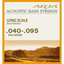 【メール便・送料無料・代引不可】【1セット】ARIA/アリア AGS-600AB アコースティックベース弦[40-95]【smtb-TK】