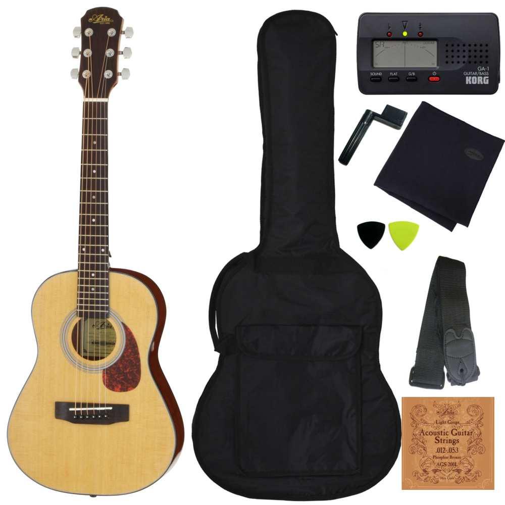 【送料込】【定番8点セット】ARIA アリア ADF-01 1/2 N Natural 530mmスケール ミニ・フォークギター【smtb-TK】